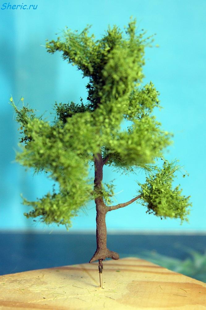 лиственное дерево в масштабе HO