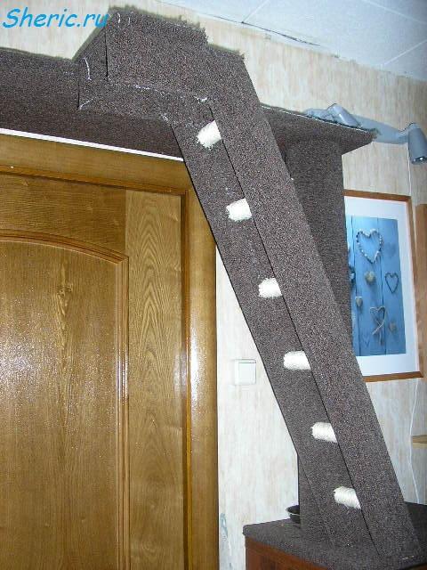Лестница для кошки своими руками