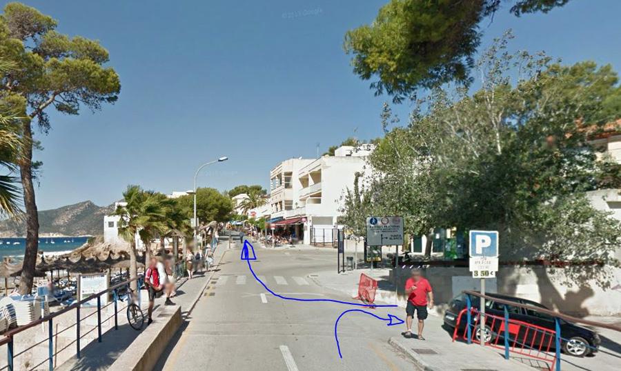 Sant Elm парковка и маршрут далее.