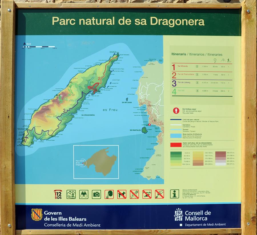 Маршруты Sa Dragonera.